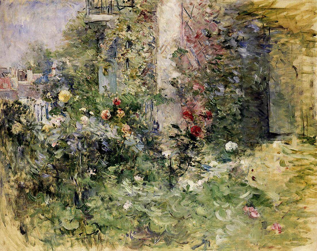 """The Garden at Bougival"" by Berthe Morisot"